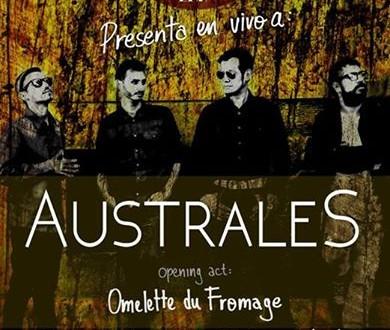 Australes + Omelette du Fromage en vivo en LA MÓ BAR (FIESTA POST SHOW)